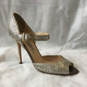 Champagne Lace Mary Jane Pumps